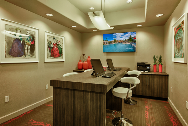 business center at Desert Mirage Apartments