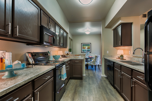 kitchen at Desert Mirage Apartments