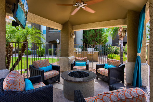 grill area at Desert Mirage Apartments