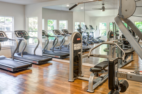 fitness center at Canyon Creek Apartments