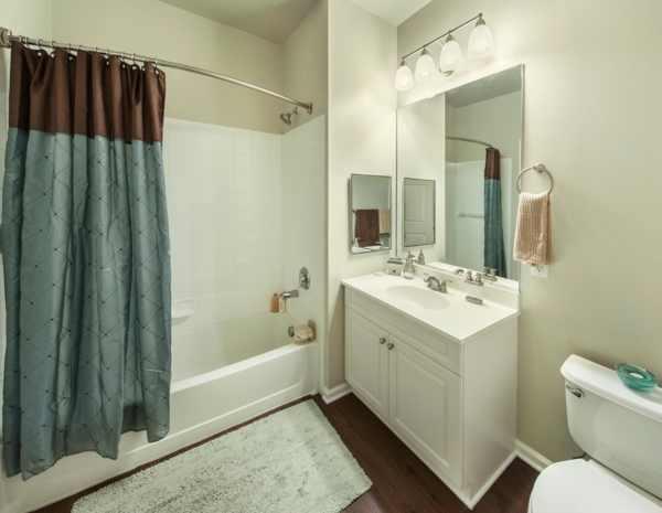 bathroom at The Union at Lyndhurst Apartments