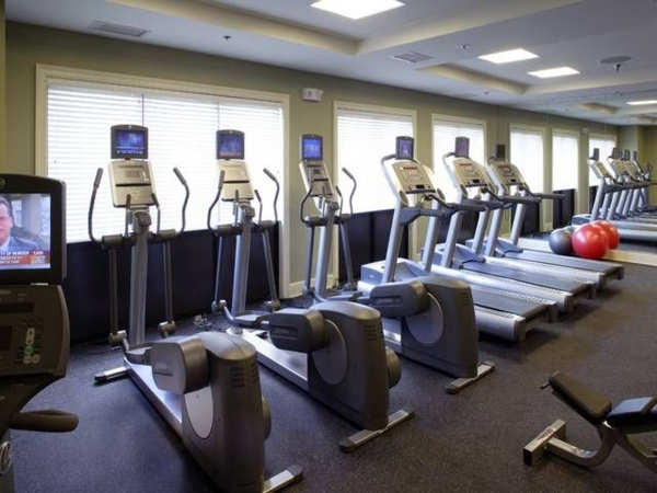 fitness center at The Union at Lyndhurst Apartments