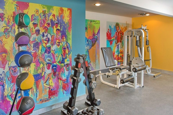 fitness center at Park 120 Apartments