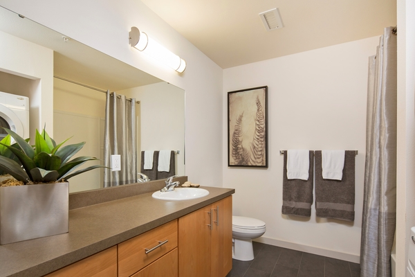 bathroom at VUE25 Apartments