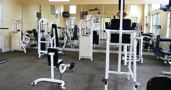 fitness center at Toscana Apartments