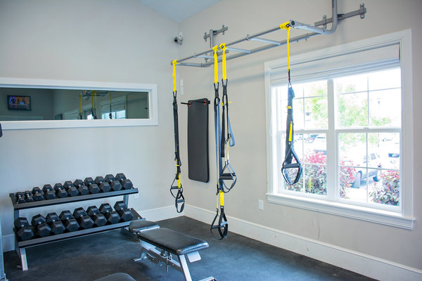 fitness center at Copperwood Apartments