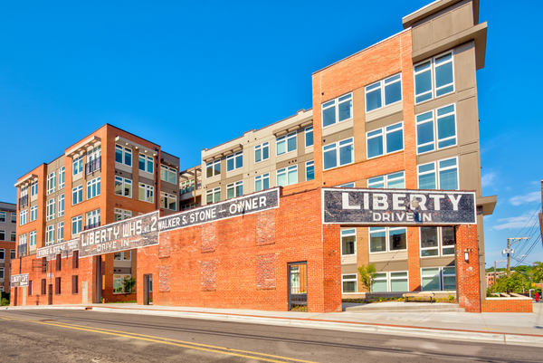 exterior at Liberty Warehouse Apartments
