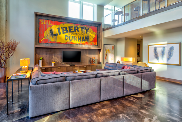 clubhouse at Liberty Warehouse Apartments