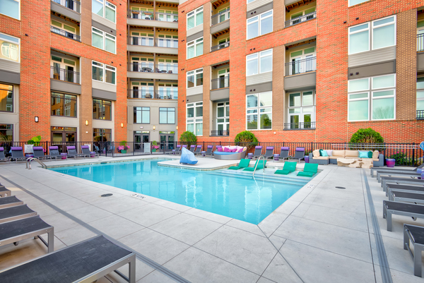 pool at Liberty Warehouse Apartments