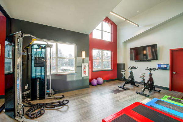 fitness center at Avana One Six Four Apartments