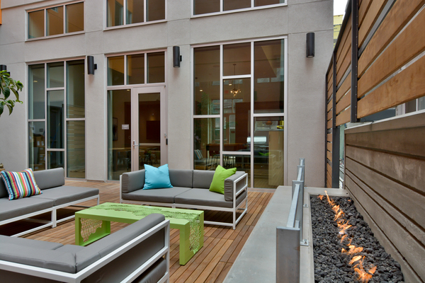 Patio Area at Parker Apartments
