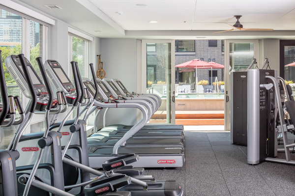 fitness center at Maverick Apartments
