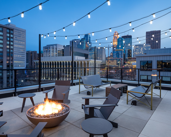 rooftop patio at Maverick Apartments