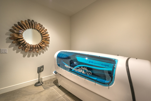 tanning booth at Elan River District Apartments