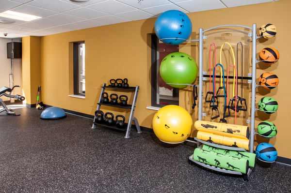 fitness center at Grain Belt Apartments