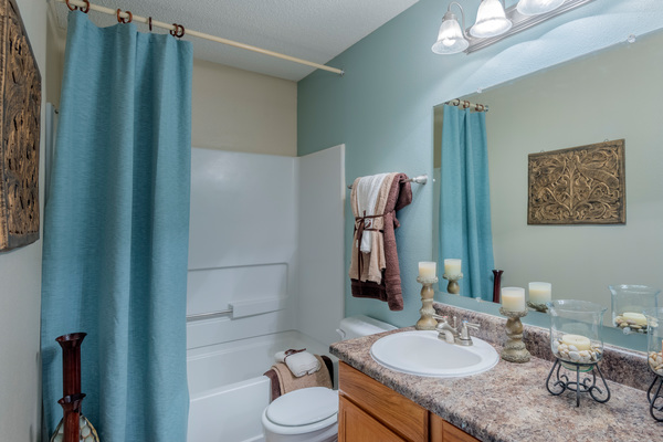 bathroom at Terraces at Fieldstone Apartments