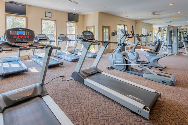 fitness center at Terraces at Fieldstone Apartments