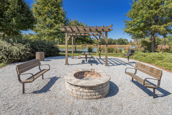 fire pit at Terraces at Fieldstone Apartments