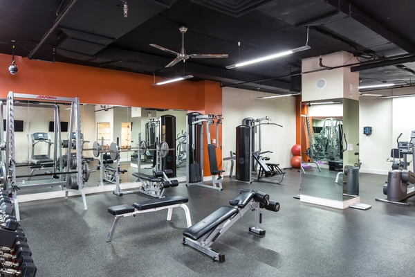 fitness center at Cascade at Landmark Apartments