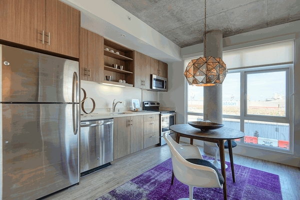 kitchen at The Gantry Apartments