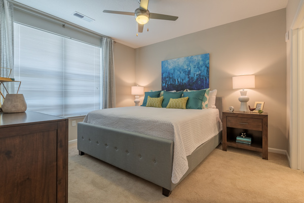 bedroom at Atlantic on the Avenue Apartments