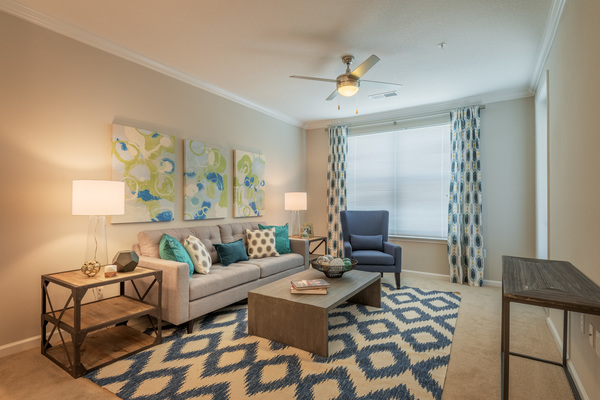 living room at Atlantic on the Avenue Apartments