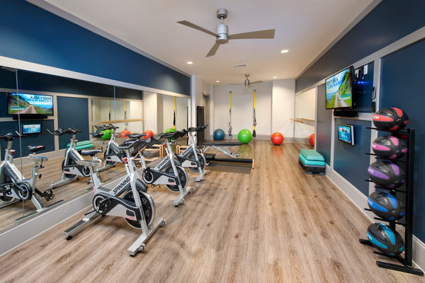 fitness center at The Haynes House