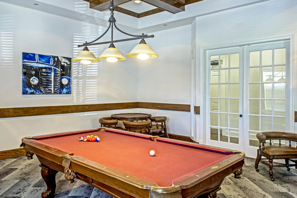 game room at Provenza at Southwood Apartments