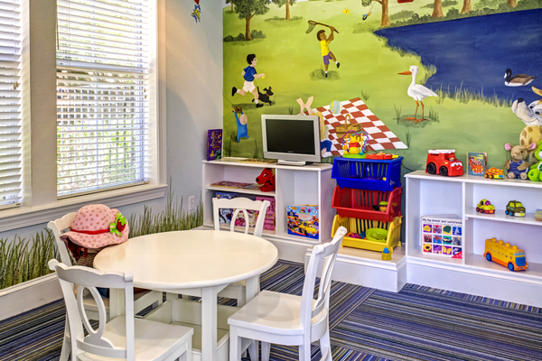 play room at Provenza at Southwood Apartments