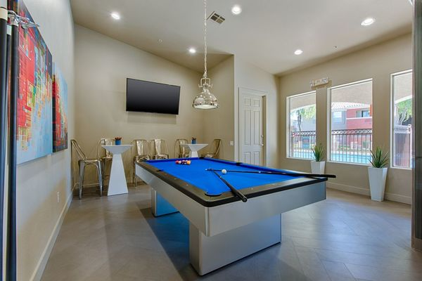 game room at Envision Apartments