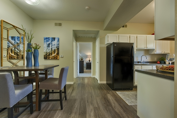 dining room at Envision Apartments