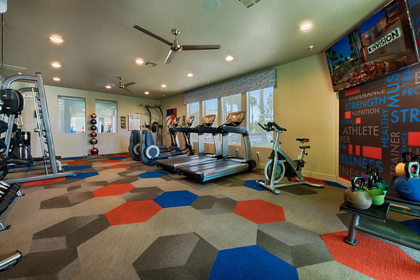 fitness center at Envision Apartments