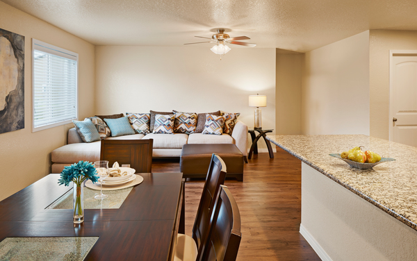living room at Vickery Grove Apartments