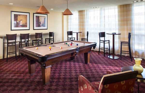 game room at Neponset Landing Apartments