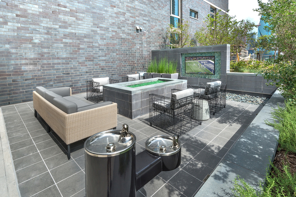 fire pit  at Ascent Victory Park Apartments