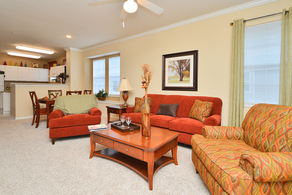 living room at The Villages of Cypress Creek Apartments