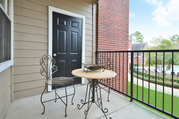 patio at The Villages of Cypress Creek Apartments