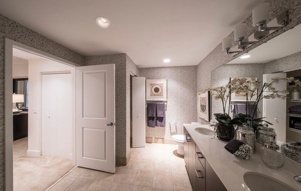 bathroom at The Mark at Cityscape Apartments
