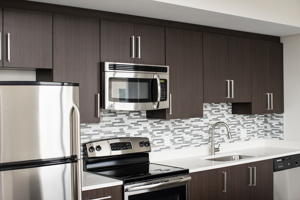 kitchen at The Mark at Cityscape Apartments