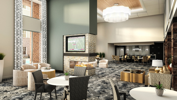 clubhouse rendering at Overture Providence Apartments