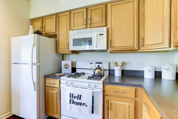 kitchen at Burrough's Mill Apartments