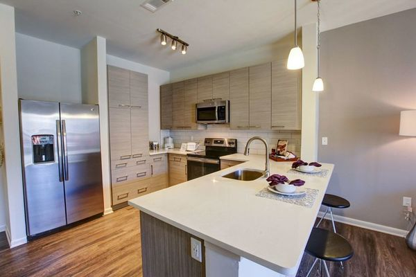 kitchen at Centric Gateway Apartments