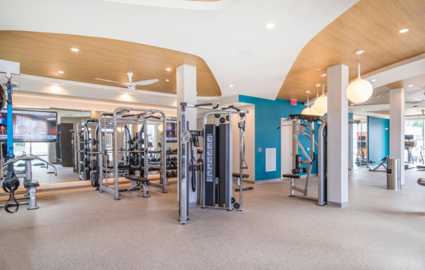 fitness center at Elan Union Market Apartments