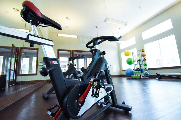 fitness center at Terra Apartments