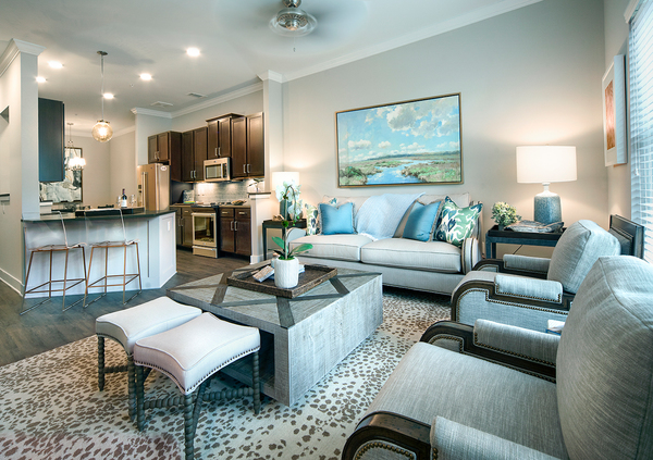 living room at WaterWalk at Shelter Cove Towne Centre