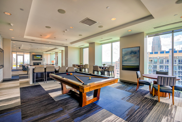 game room at Uptown North Apartments