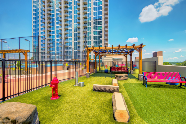 dog park at Skyhouse Uptown North Apartments