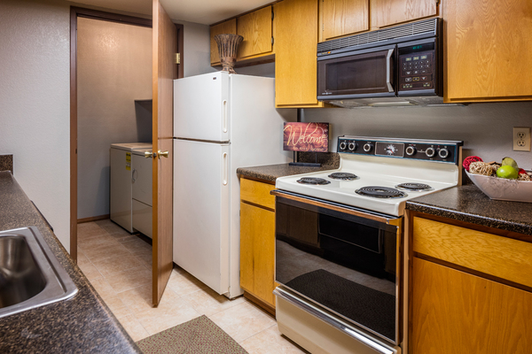 kitchen at TimberLane Village Apartments
