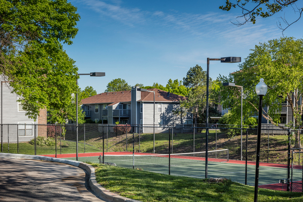 tennis court at TimberLane Village Apartments