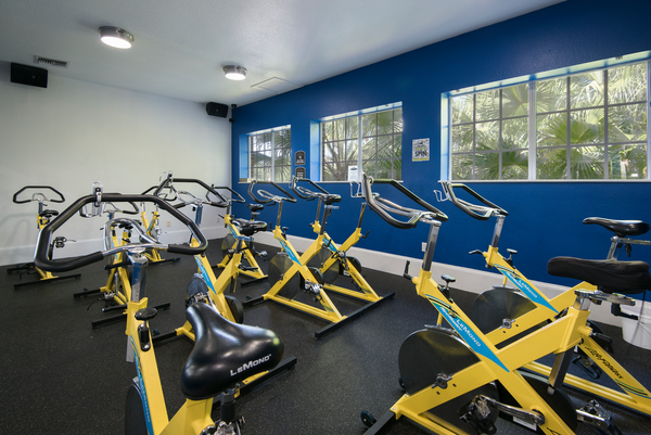 fitness center at Park Central Apartments - Belmont
